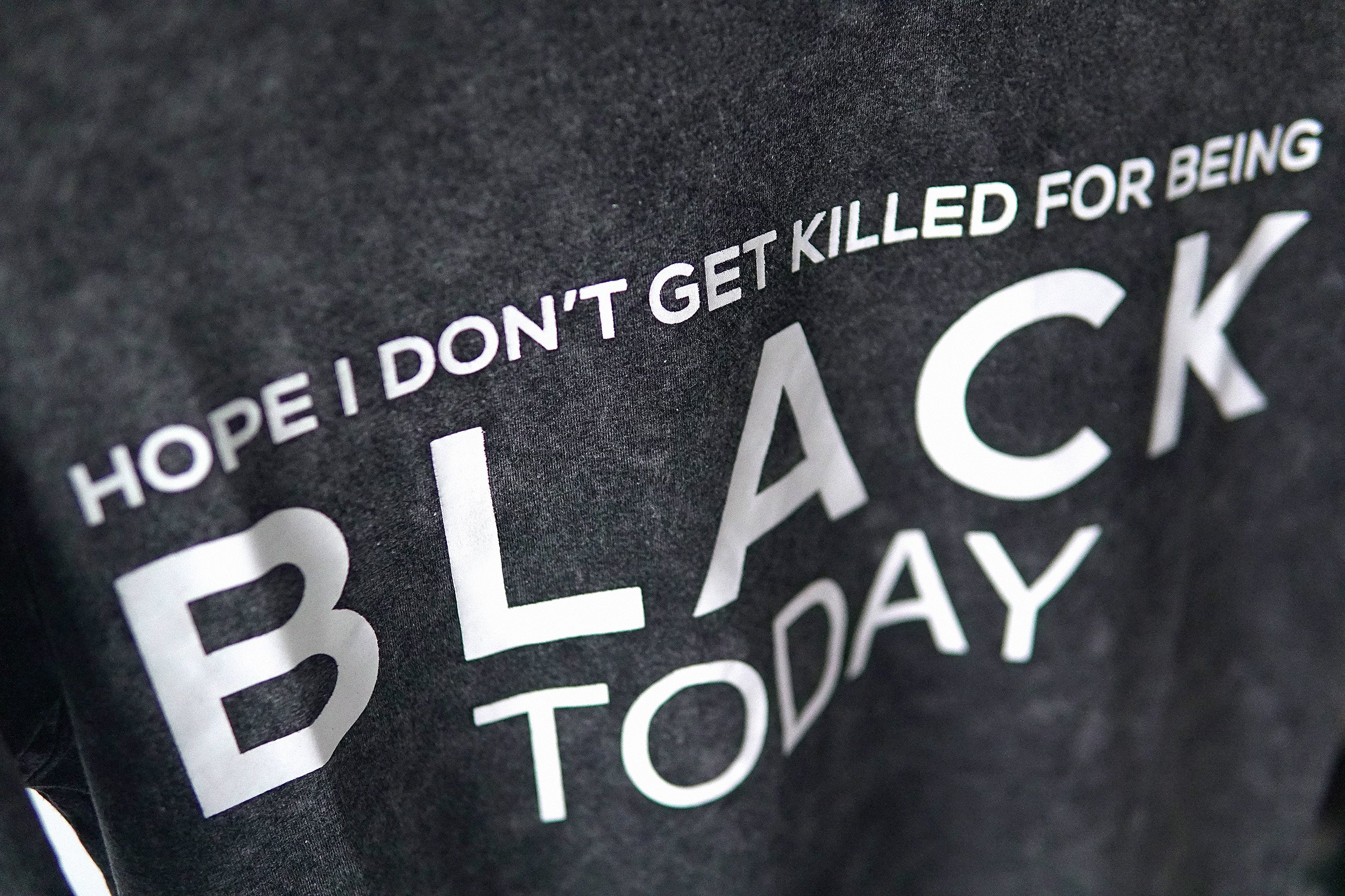 Hope I Don't Get Killed For Being Black Today® Black Mineral Wash Unisex Shirt HGC Apparel