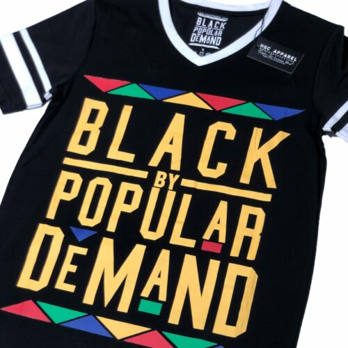 Black by Popular Demand® Unisex Original Black V-Neck Jersey Shirt HGC Apparel