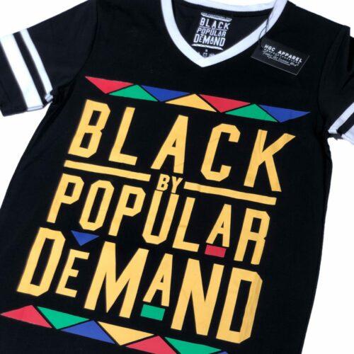 Black by Popular Demand® Unisex Original Black V-Neck Jersey Shirt HGC Apparel