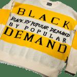 "Black by Popular Demand® ""KNITTY"" Unisex Hand-knit Sweater"
