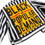 Black By Popular Demand® Women's Striped Jean Jacket