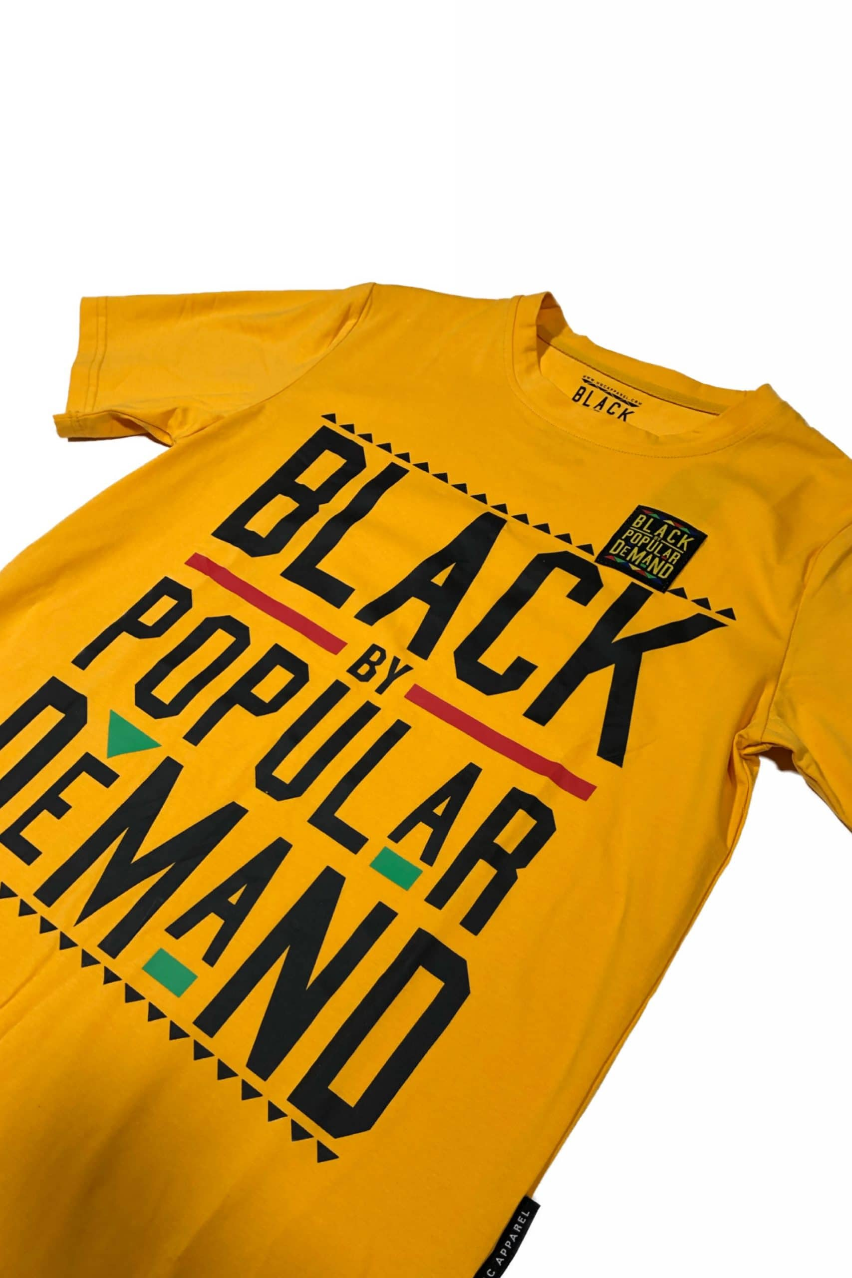 Black by Popular Demand® Yellow Unisex Patched Shirt HGC Apparel