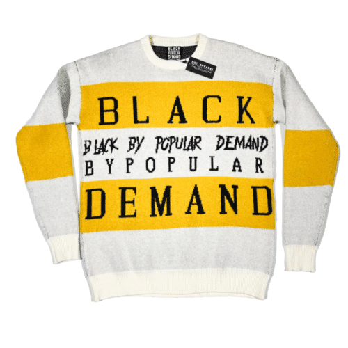"Black by Popular Demand® ""KNITTY"" Unisex Hand-knit Sweater HGC Apparel"
