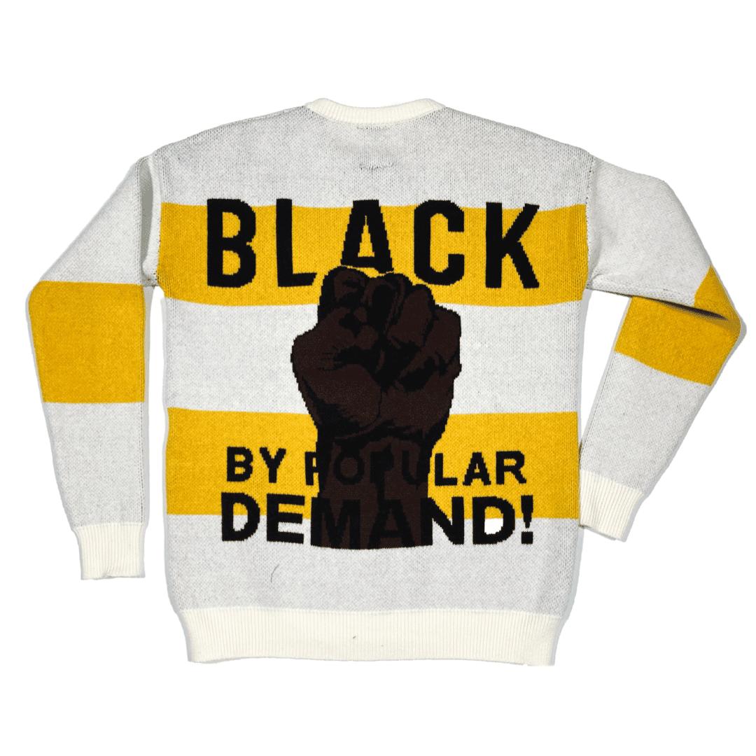 "Black by Popular Demand® ""KNITTY"" Unisex Hand-knit Sweater HGC Apparel"