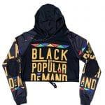 Black by Popular Demand® Black Women's Crop Sweatshirt