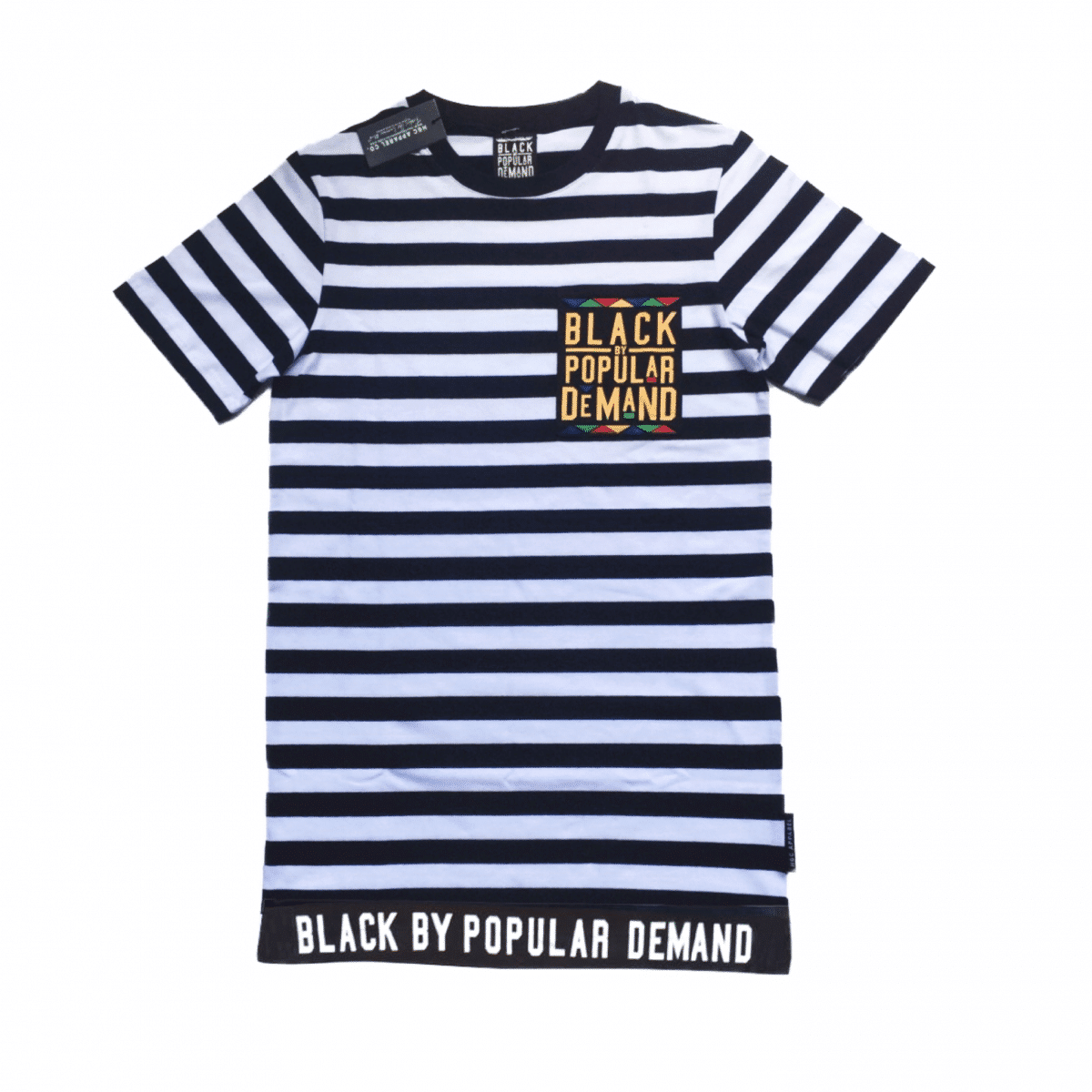 Black by Popular Demand® Unisex Striped Deluxe Black Pocket Shirt HGC Apparel