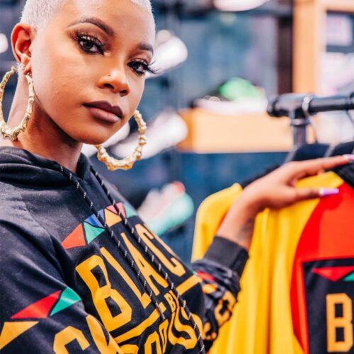 Black by Popular Demand® Black Women's Crop Hoodie Sweatshirt HGC Apparel