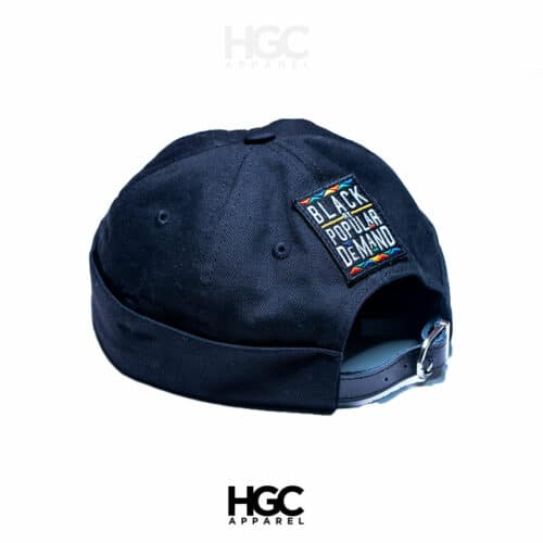 Black by Popular Demand® Black Brimless Docker Hat HGC Apparel