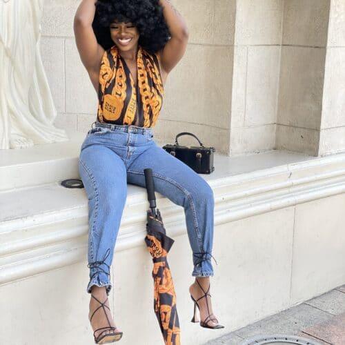 Proud Black Woman® Black Satin Headwrap Scarf HGC Apparel