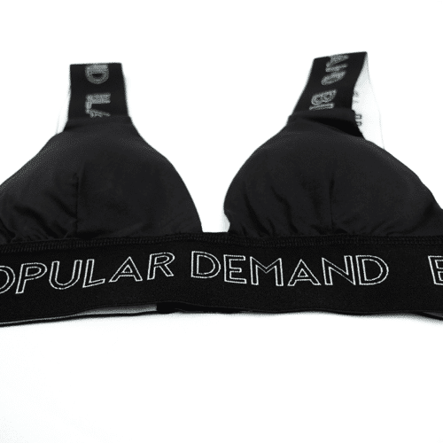 Black By Popular Brand® Black Banded Bra HGC Apparel