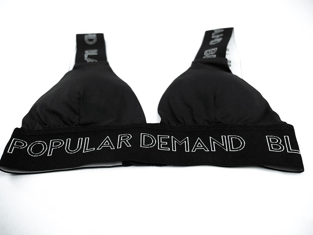 Black By Popular Brand® Black Banded Bra HGC Apparel