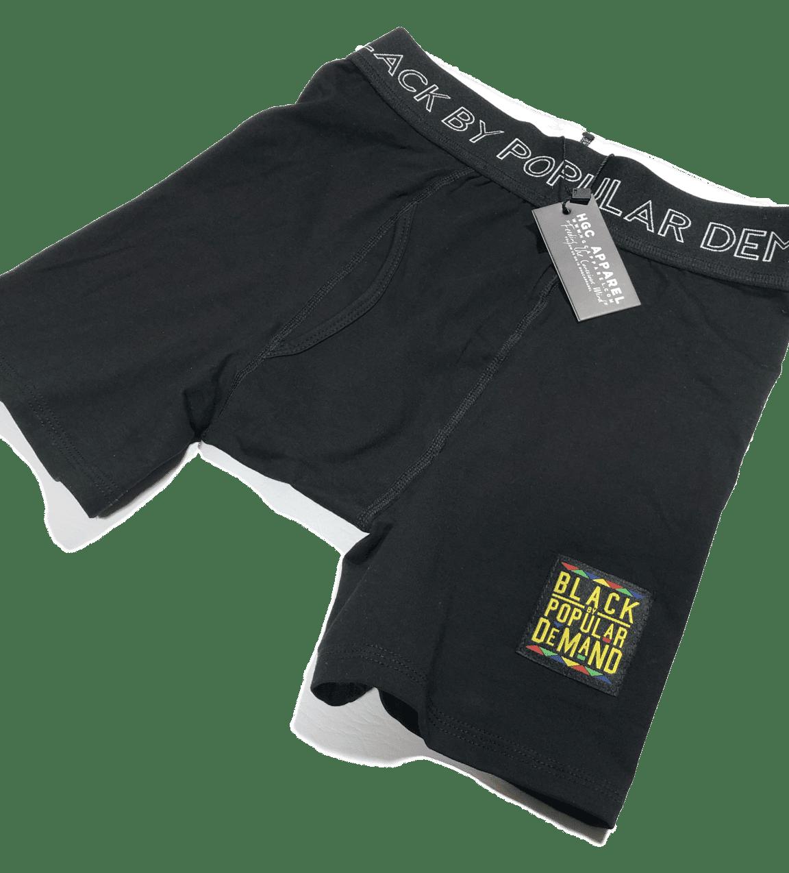 BLACK BY POPULAR DEMAND® Black Boxer Briefs HGC Apparel