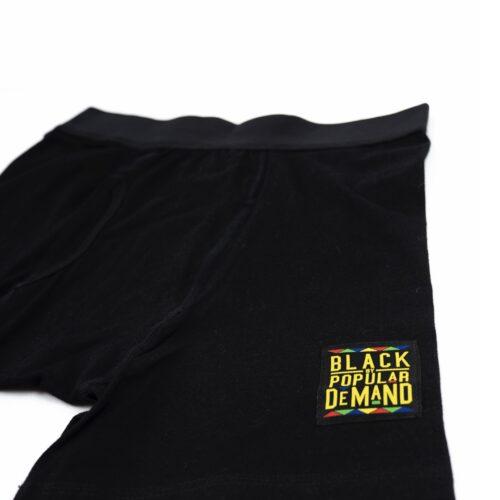 Black by Popular Demand® Unisex Black Boxer Briefs 2-Pack HGC Apparel