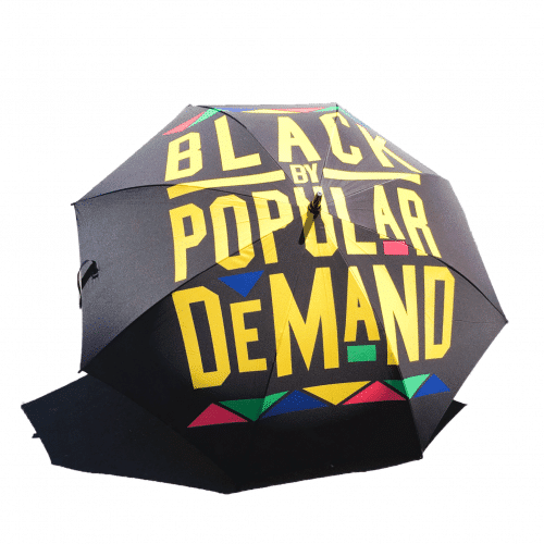 BLACK BY POPULAR DEMAND® Large Classic Black Umbrella HGC Apparel