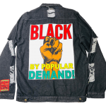 Black By Popular Demand® Black Unisex Oversized Jean Jacket