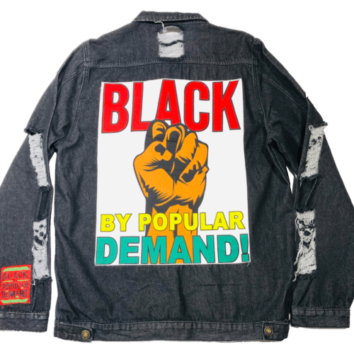 Black By Popular Demand® Black Unisex Oversized Jean Jacket HGC Apparel