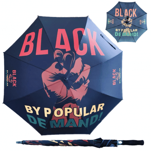 BLACK BY POPULAR DEMAND® Large Fist Logo Umbrella HGC Apparel