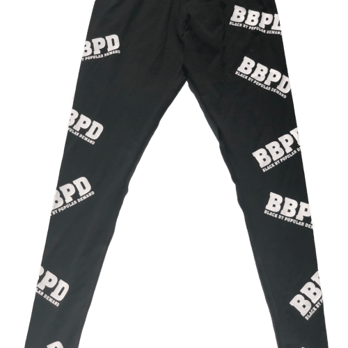 BLACK BY POPULAR DEMAND® BBPD Logo Spandex Leggings HGC Apparel