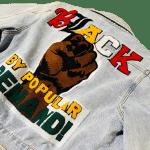 Black By Popular Demand® Women's Crop Tapestry Jean Jacket