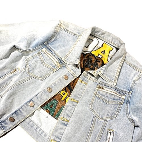 Black By Popular Demand® Women's Crop Tapestry Jean Jacket HGC Apparel