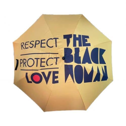 Respect Protect Love, The Black Woman® Large Umbrella HGC Apparel