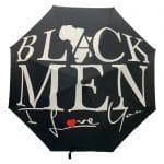 BLACK MEN I LOVE YOU® Large Black Umbrella