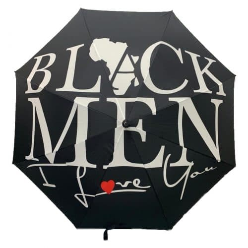 BLACK MEN I LOVE YOU® Large Black Umbrella HGC Apparel