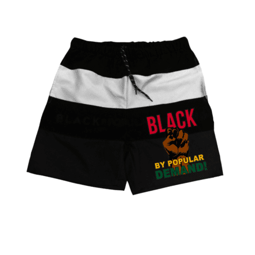 Black By Popular Demand® Unisex Black Board Shorts HGC Apparel