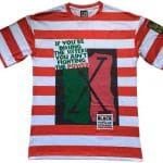 Black By Popular Demand® Red Unisex Stripe Dissing The Sisters Shirt