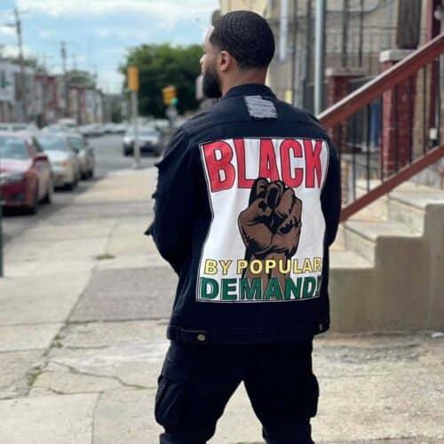 Black By Popular Demand® Black Unisex Oversized Jean Jacket HGC Apparel