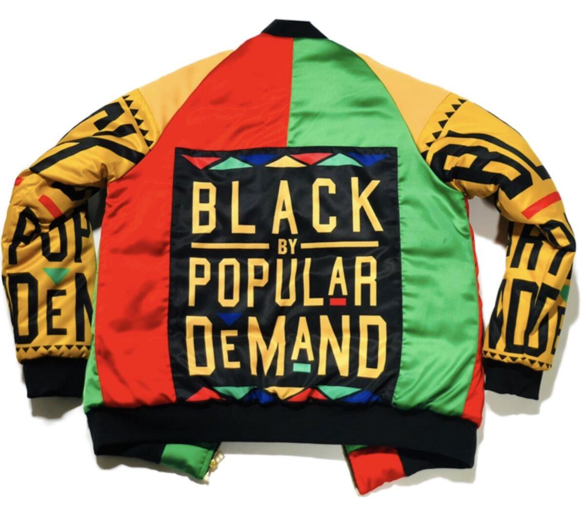 Black By Popular Demand® Multi-Color Unisex Homage Bomber Jacket HGC Apparel