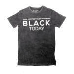 Hope I Don't Get Killed For Being Black Today® Black Mineral Wash Unisex Shirt