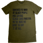 America Is Mad At Black People® Olive Mineral Wash Unisex Shirt