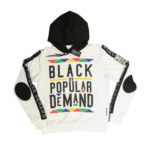 Black by Popular Demand® White Unisex Hoodie Sweatshirt HGC Apparel