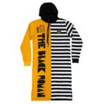 Respect Protect Love The Black Woman® Women's Split Striped Long Sleeve Hoodie Dress