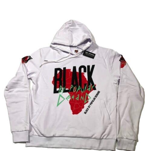Black by Popular Demand® White Africa Unisex Hoodie Sweatshirt HGC Apparel