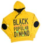 Black by Popular Demand® Yellow Unisex Hoodie Sweatshirt