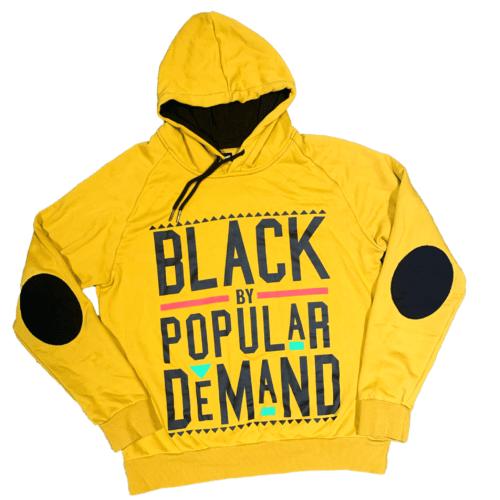 Black by Popular Demand® Yellow Unisex Hoodie Sweatshirt HGC Apparel