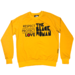 Respect Protect Love The Black Woman® Yellow Unisex Crewneck Sweatshirt