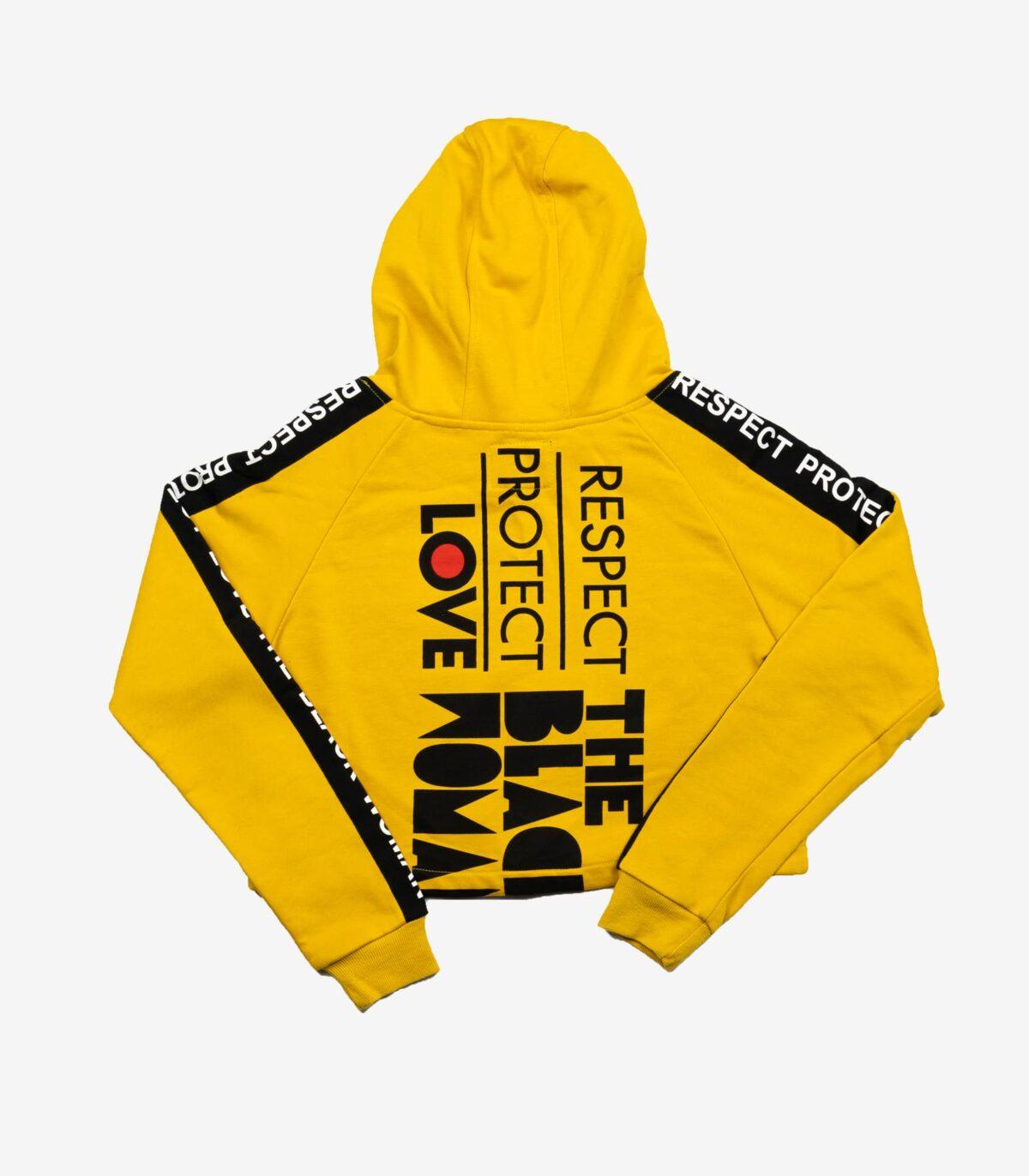 Respect Protect Love The Black Woman® Women's Crop Hoodie Sweatshirt HGC Apparel