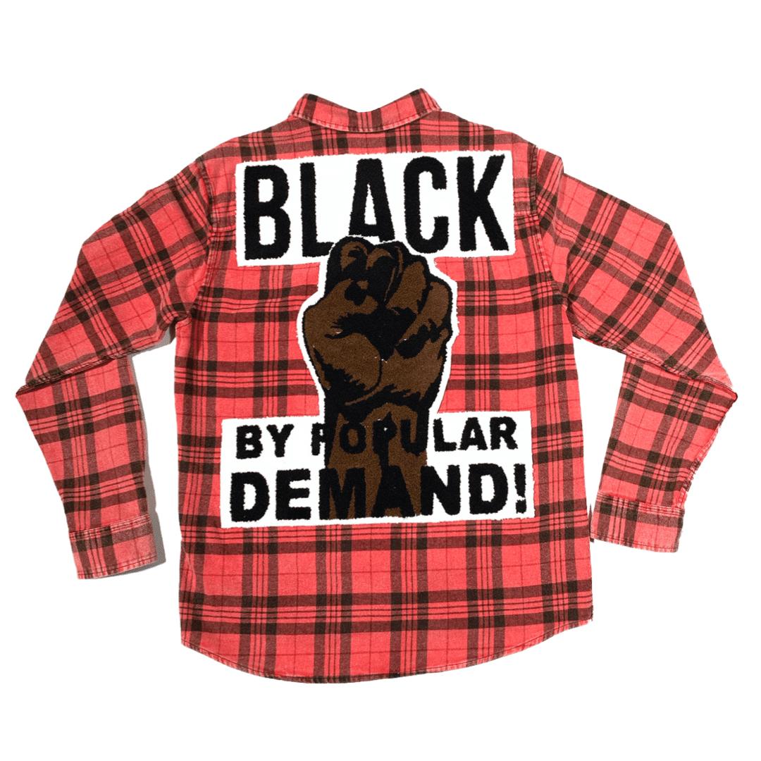 Black by Popular Demand® Ash Red Flannel Unisex Shirt HGC Apparel
