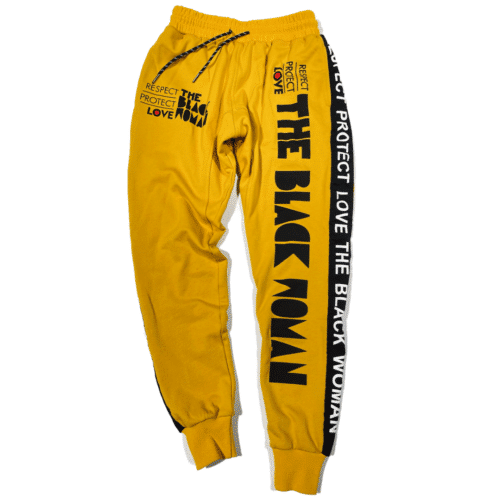 Respect Protect Love The Black Woman® Yellow Unisex Joggers Sweatpants HGC Apparel