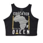 Educated Black Queen® Black Crop Tank