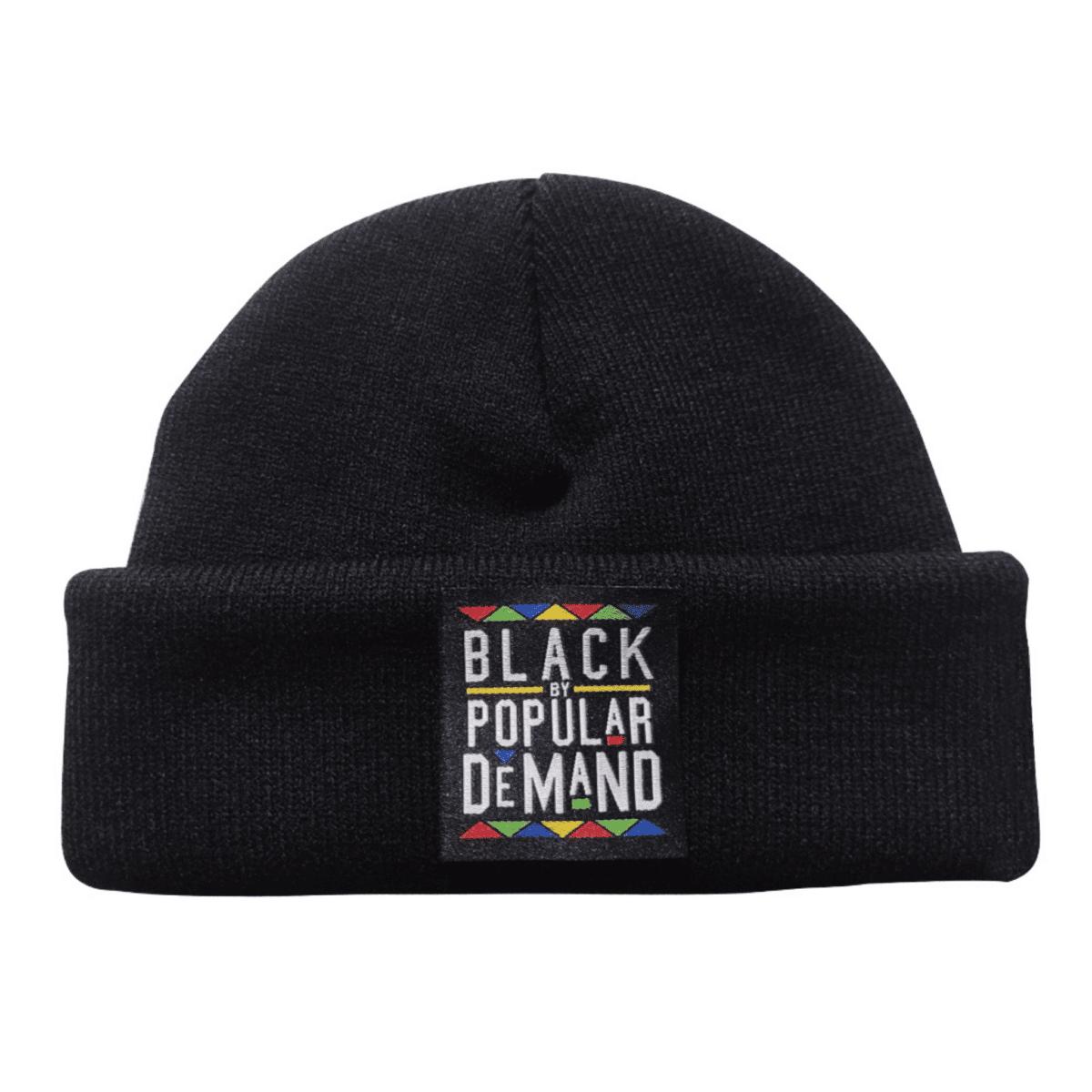 Black By Popular Demand® Black Unisex Beanie HGC Apparel