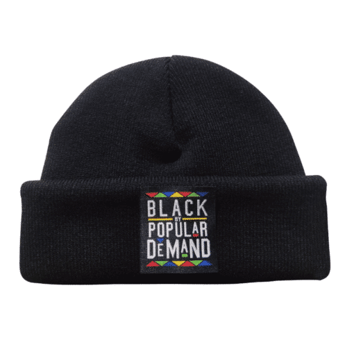 Black By Popular Demand® Black Unisex Beanie HGC Apparel