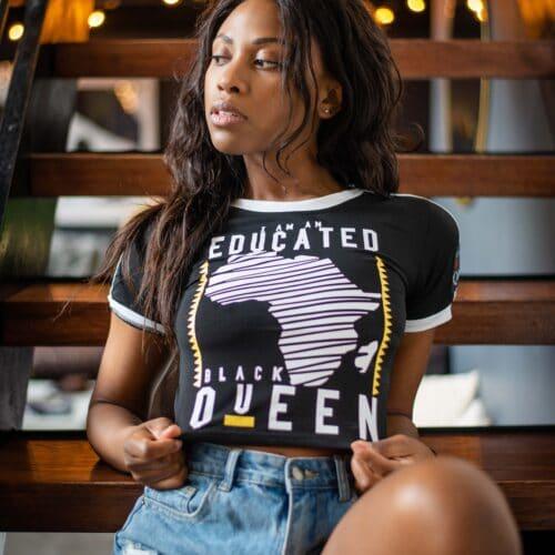 Educated Black Queen® Black Crop Tank HGC Apparel