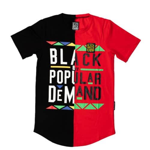 Black by Popular Demand® Black & Red Unisex Split Shirt HGC Apparel