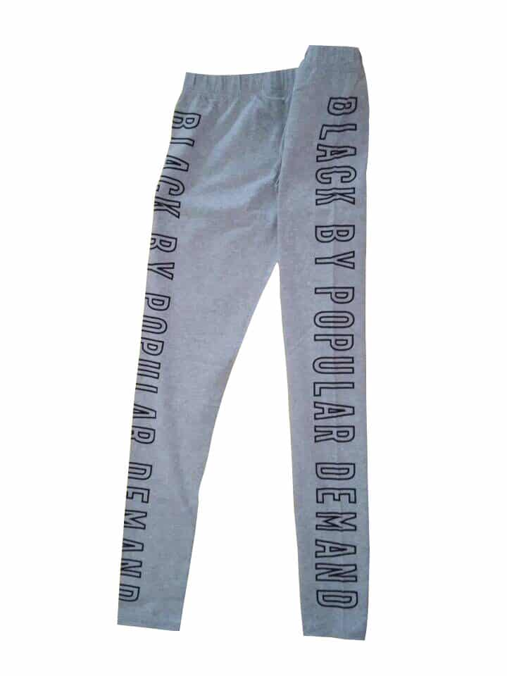 BLACK BY POPULAR DEMAND® Grey Spandex Leggings Pants HGC Apparel