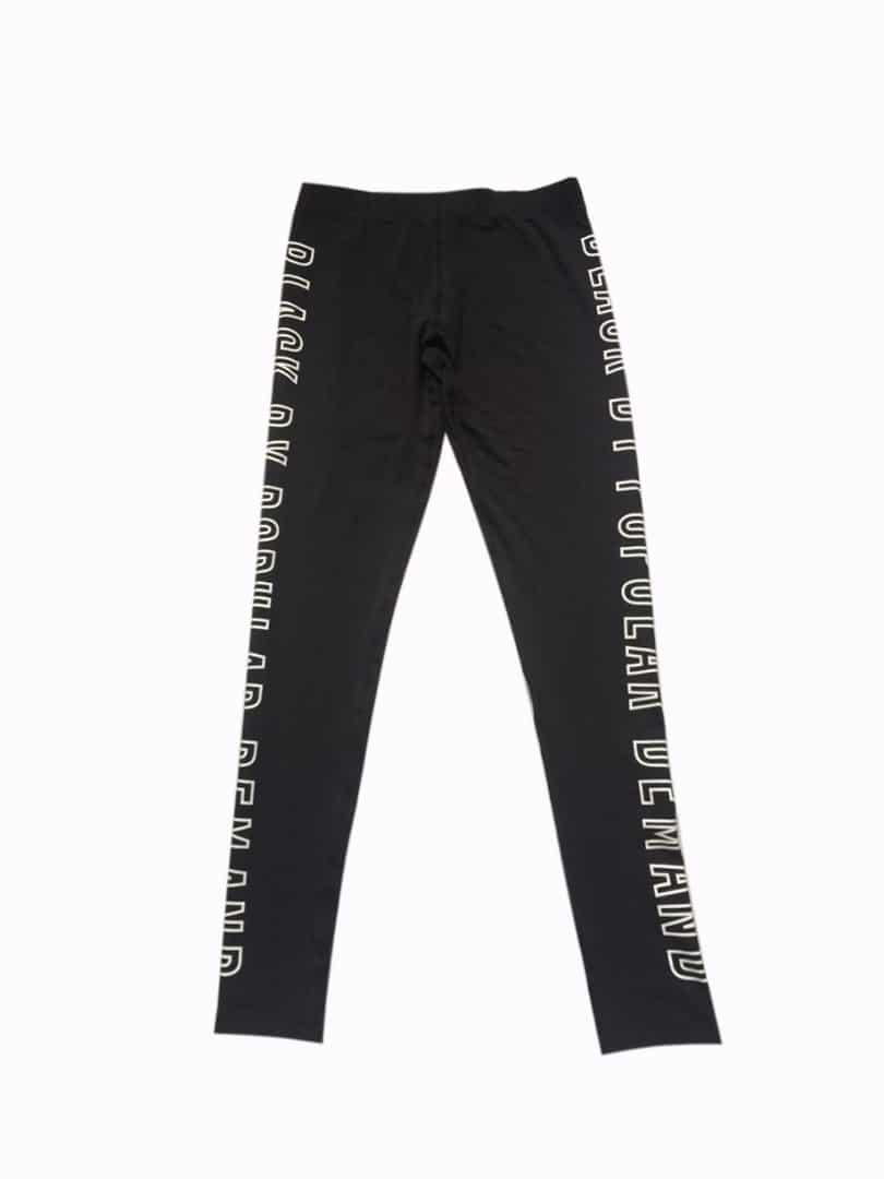 BLACK BY POPULAR DEMAND® Black Outlined Spandex Leggings Pants HGC Apparel