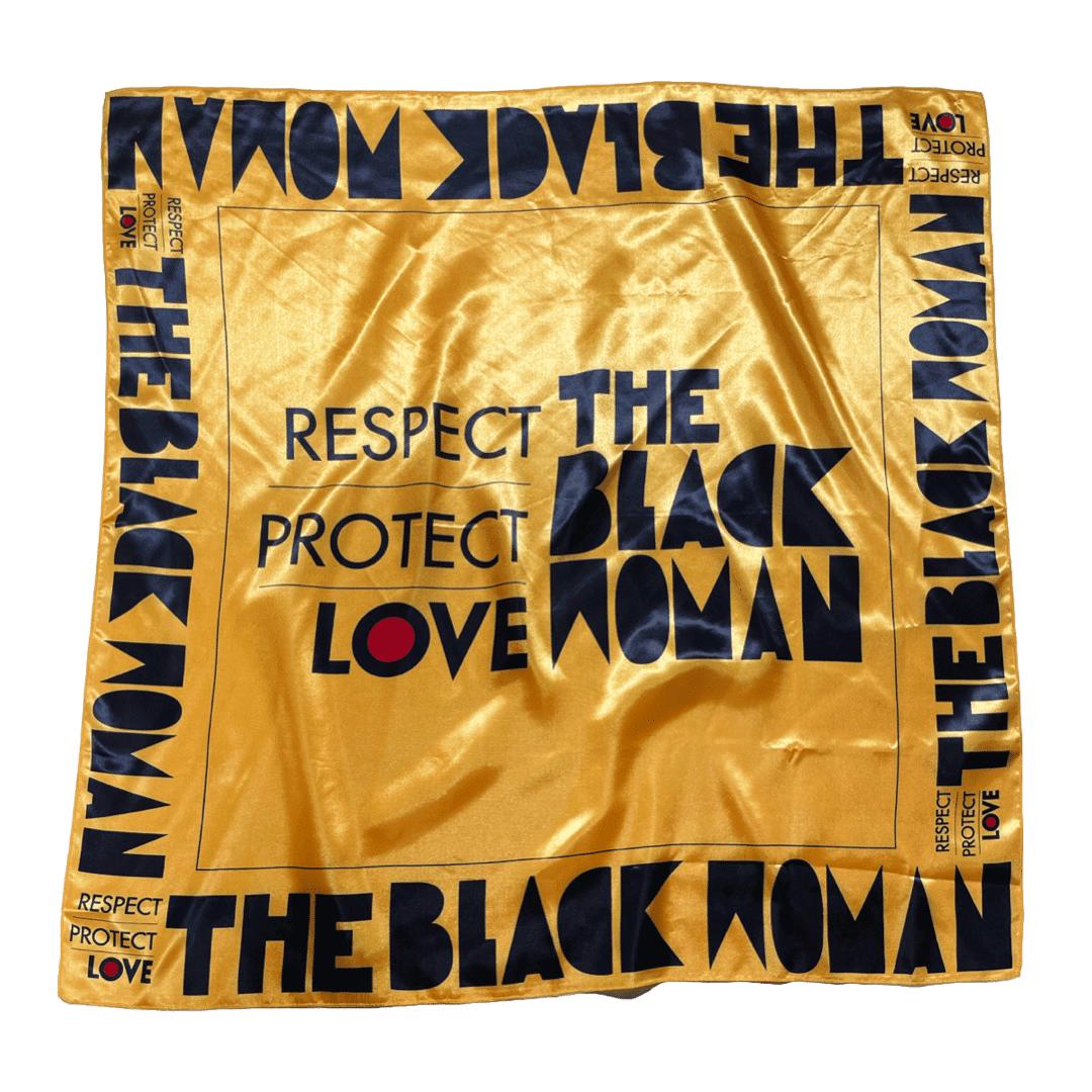 Respect Protect Love The Black Woman® Satin Headwrap Scarf HGC Apparel